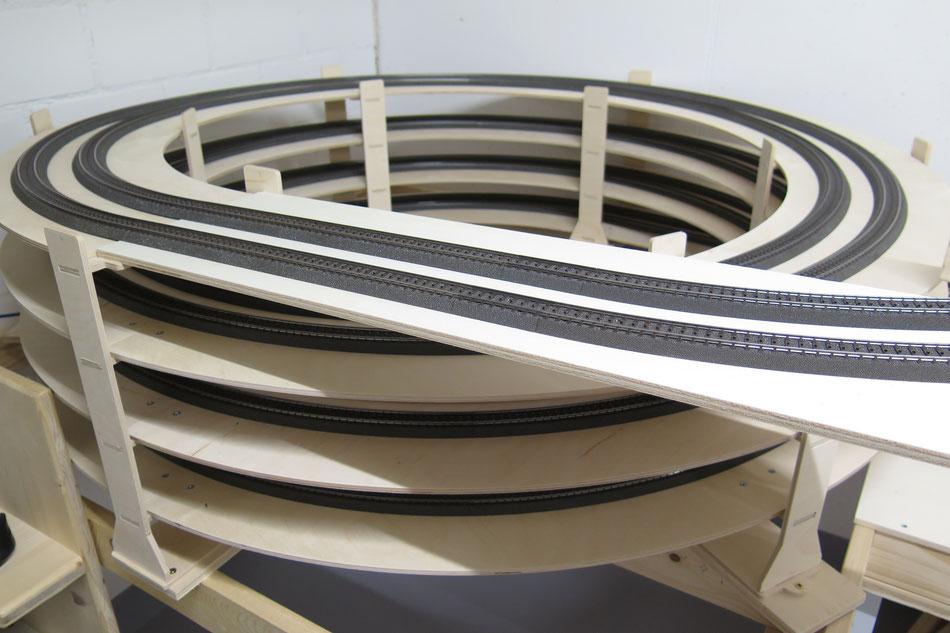 3.5fach Gleiswendel für Märklin C-Gleise mit Radien R3 / R4