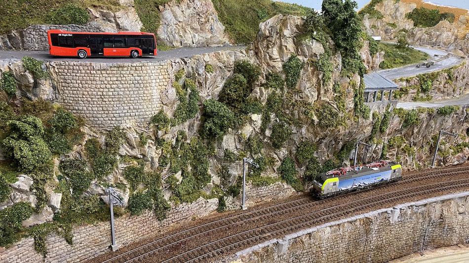Modelleisenbahnanlage H0 Bergstrecke Gotthard