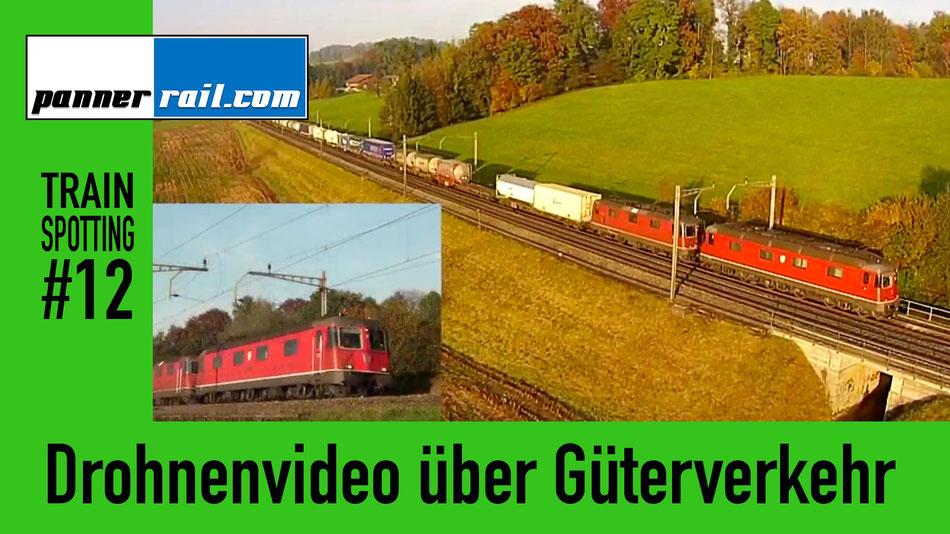 Züge filmen mittels Drohne