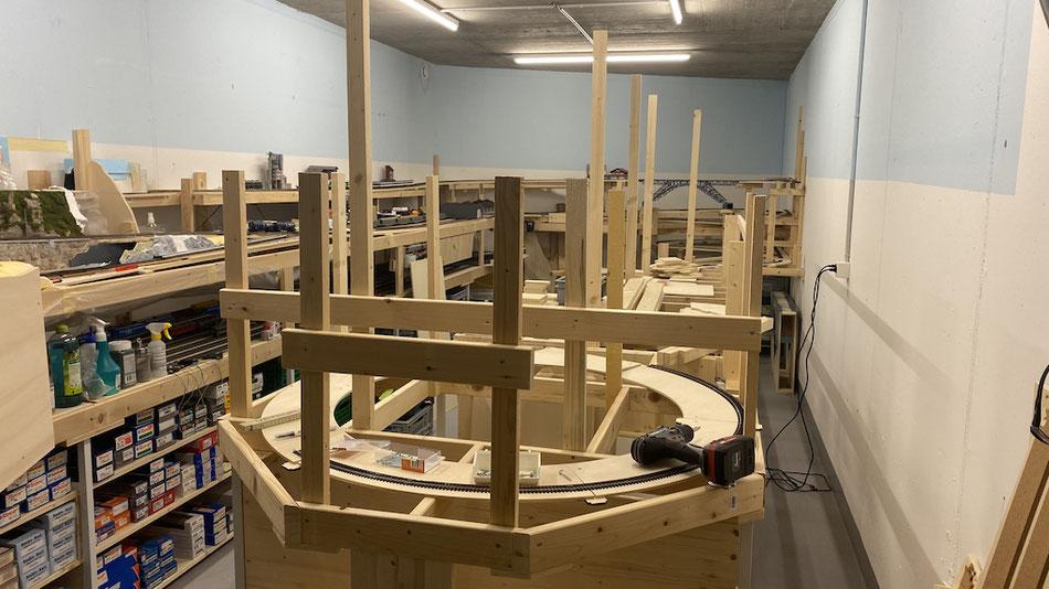 Modelleisenbahn Grundkonstruktion