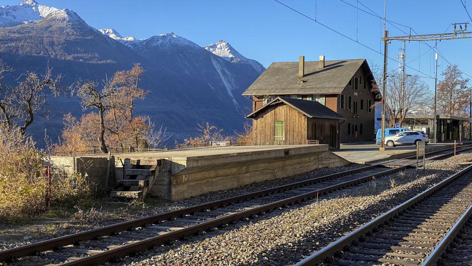 Bahnhof Hohtenn an der Lötschberger Südrampe