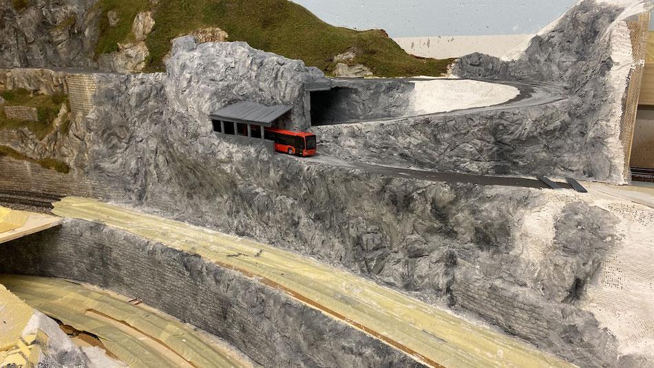 Tunnelgalerie Passstrasse Schutzbauten Bergstrecke