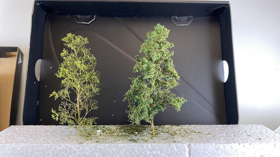 Modellbäume mit Seemoos herstellen - Grundlage Heki Rohlinge