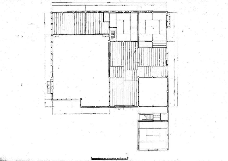 重要文化財 今西家住宅  二階 平面図