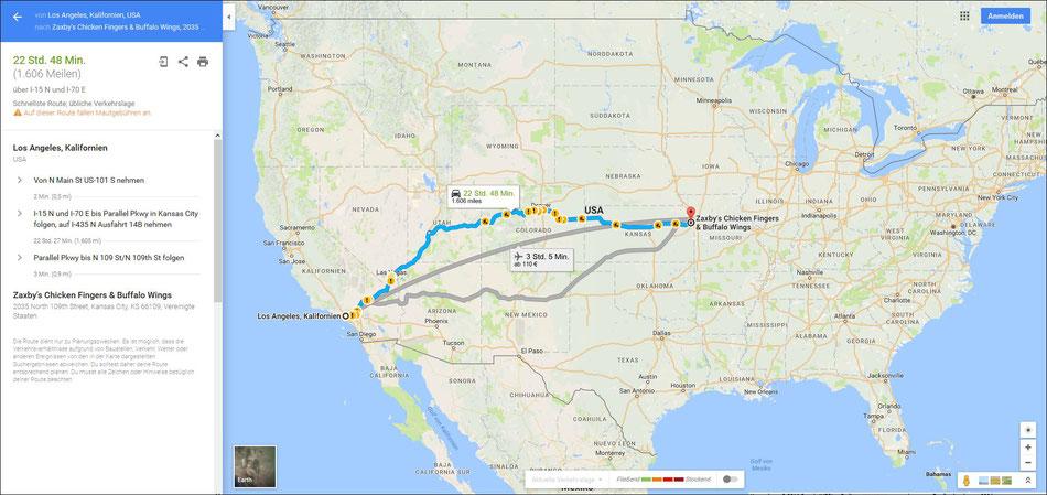 Bild: HDW-USA, Las Vegas, Highway, Amerka, Mister T. und der Weiße Büffel, Kansas City, Denver Colorado, Zaxby's Kansas City