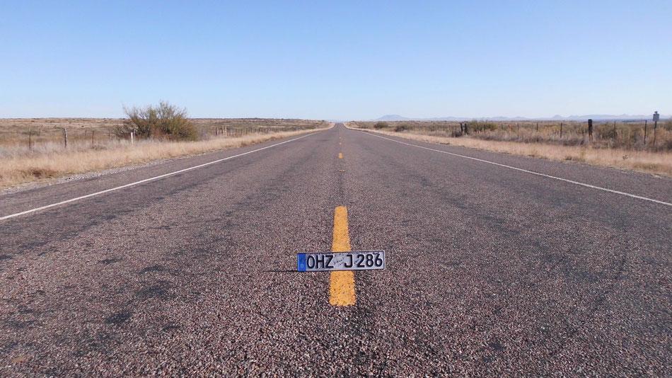 Bild: Nummernschild OHZ, Amerika, Route 66, Highway