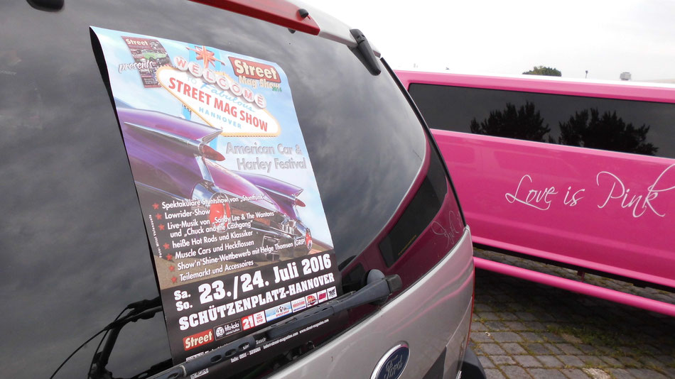 Bild: Street Mag Show, HDW, Hannover, 2016, Ford, Love is pink