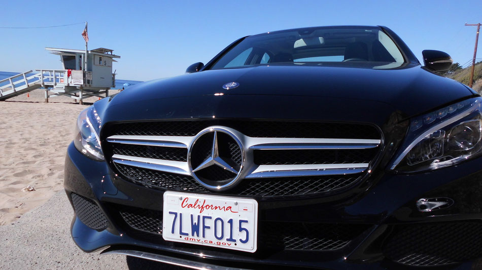 Bild: Mercedes-Benz C-Class, HDW USA, Road Trip, California, Amerika, Beach,