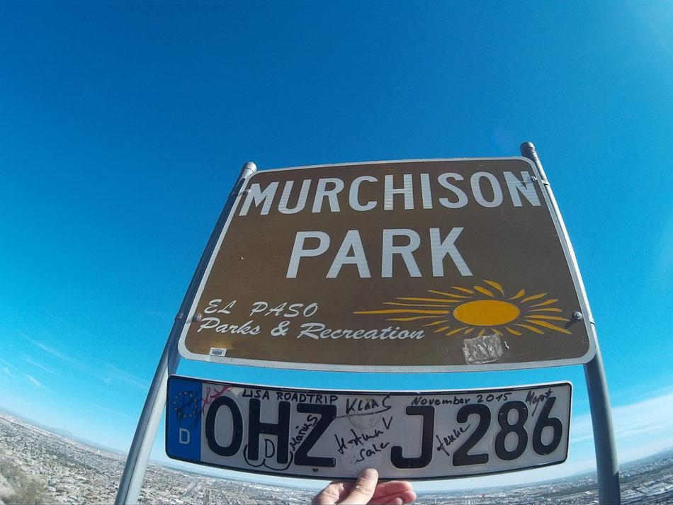 Bild: Nummernschild OHZ, Osterholz-Scharmbeck, El Paso Texas USA