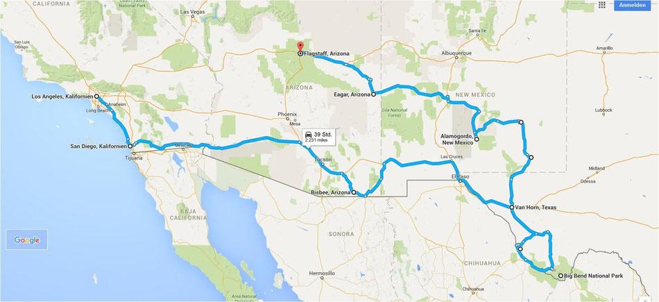 Bild: Route 66 oder NIX, Flagstaff, Arizona, Los Angeles, HDW; Hans-Dieter Wuttke