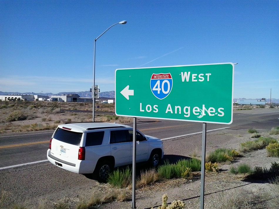 Bild: Los Angeles, HDW-USA, Roadtrip, Amerika, Mister T. und der Weiße Büffel, Route 66, Interstate 40