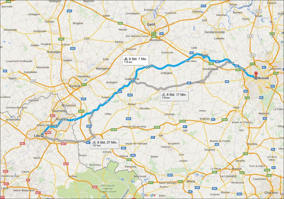 Bild: HDW, Brüssel, Belgien, Lille Frankreich, e-bike tour