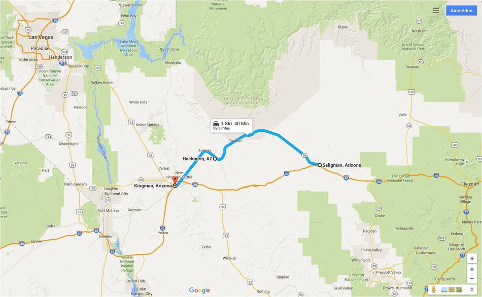 Bild: Seligman to Kingman, Route 66, HDW, Route 66 oder nix, Hans-Dieter Wuttke