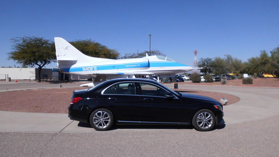 Bild: Pima Air & Space Museum Tucson Arizona, Mercedes-Benz C-Classe, Mercedes C-Klasse