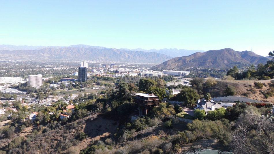 Bild: Universal Studios Hollywood vom Mulholland Drive