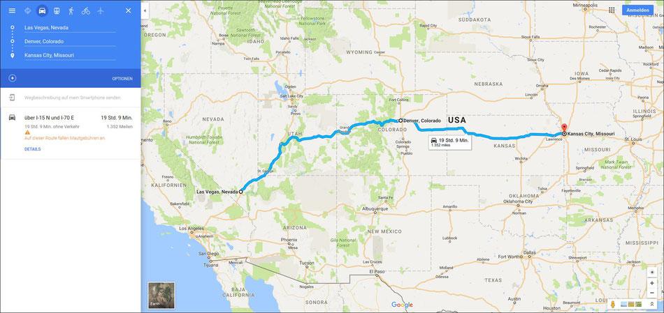 Bild: HDW-USA, Las Vegas, Highway, Amerka, Mister T. und der Weiße Büffel, Kansas City, Denver Colorado