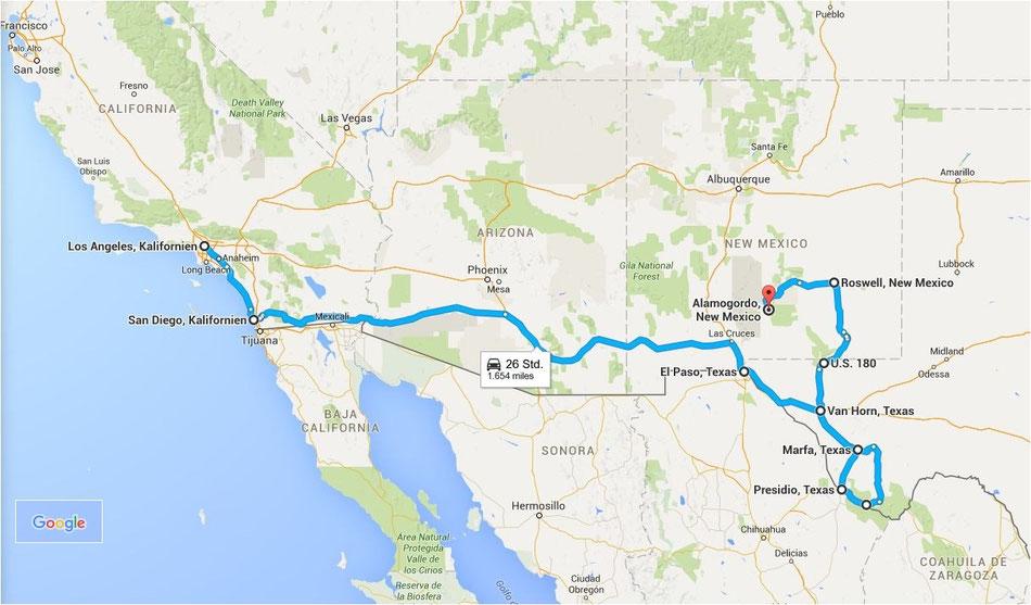 Bild: Route 66 oder NIX! HDW, Hans-Dieter Wuttke, Los Angeles, Alamogordo