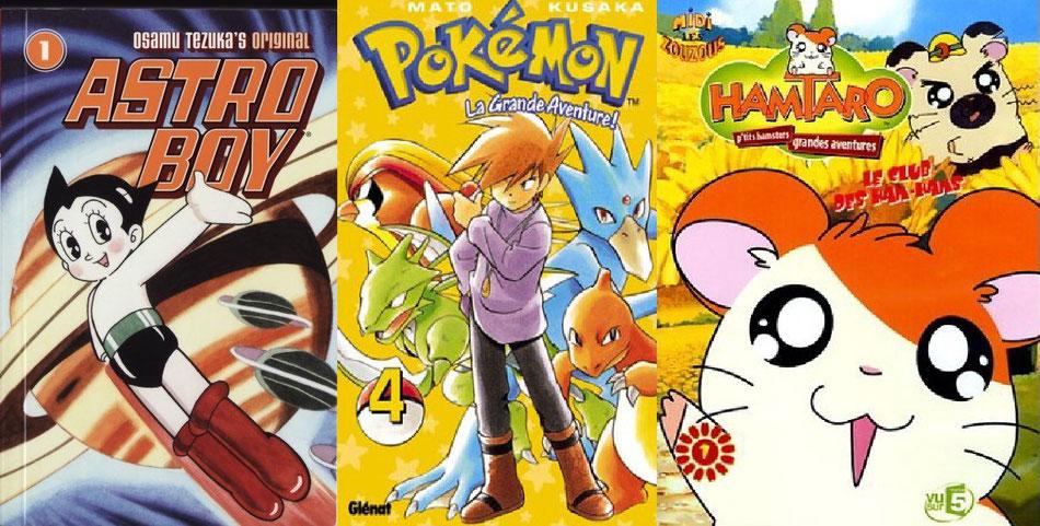 Astro boy, pokémon ainsi que Hamtaro (le plus grand des petits héros) sont des mangas de type Kodomo. Source:http://magazine.allbrary.fr/albator-naruto-comment-manga-a-envahi-occident/