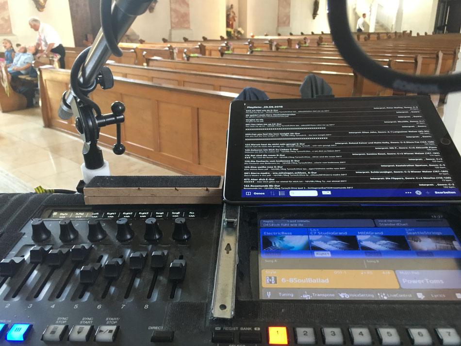 Sänger für Trauung in Kirche