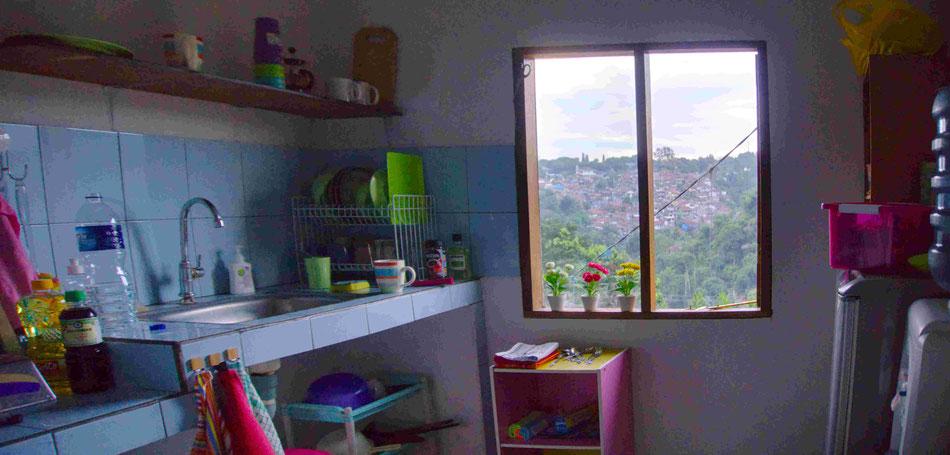 Der Blick aus unserem Küchenfenster ist unbezahlbar!