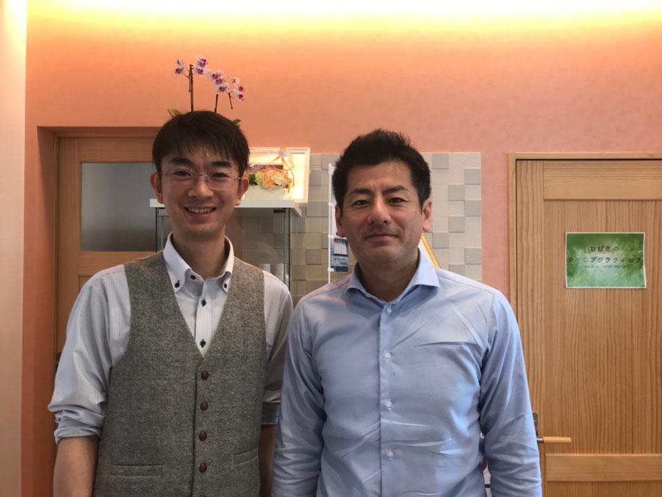 シャボン玉石けん森田社長・ひびきのカイロプラクティック副院長松本