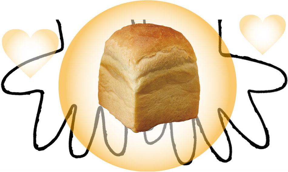 マルベーカリーは当日焼き上げた食パンを提供します