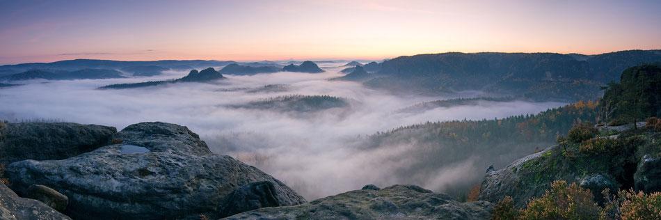 Sonnenaufgang im Großen Zschand