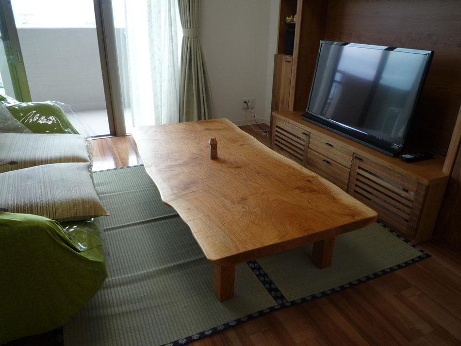 山桜 一枚板 テーブル 広島
