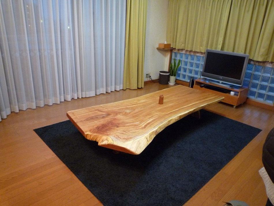センダン 一枚板 センターテーブル 広島