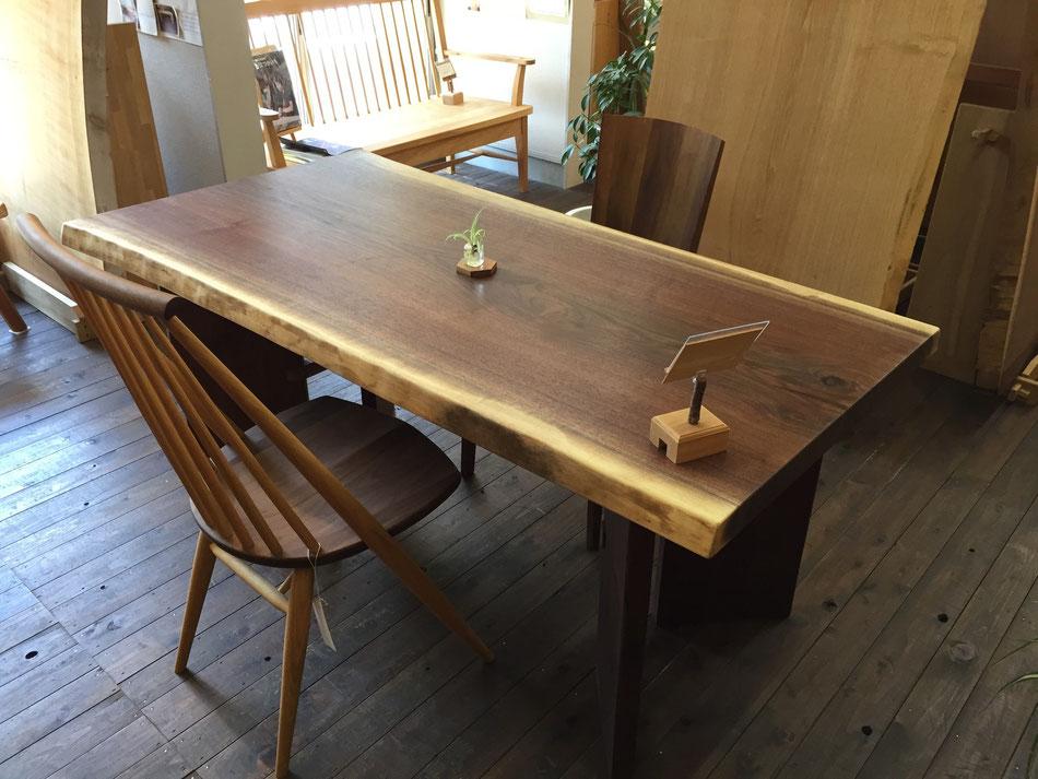 ブラックウォールナット テーブル 一枚板 ダイニングテーブル