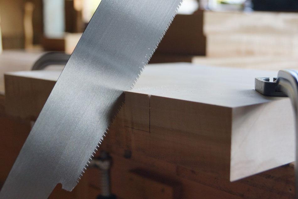 鋸挽き 一枚板 手作り