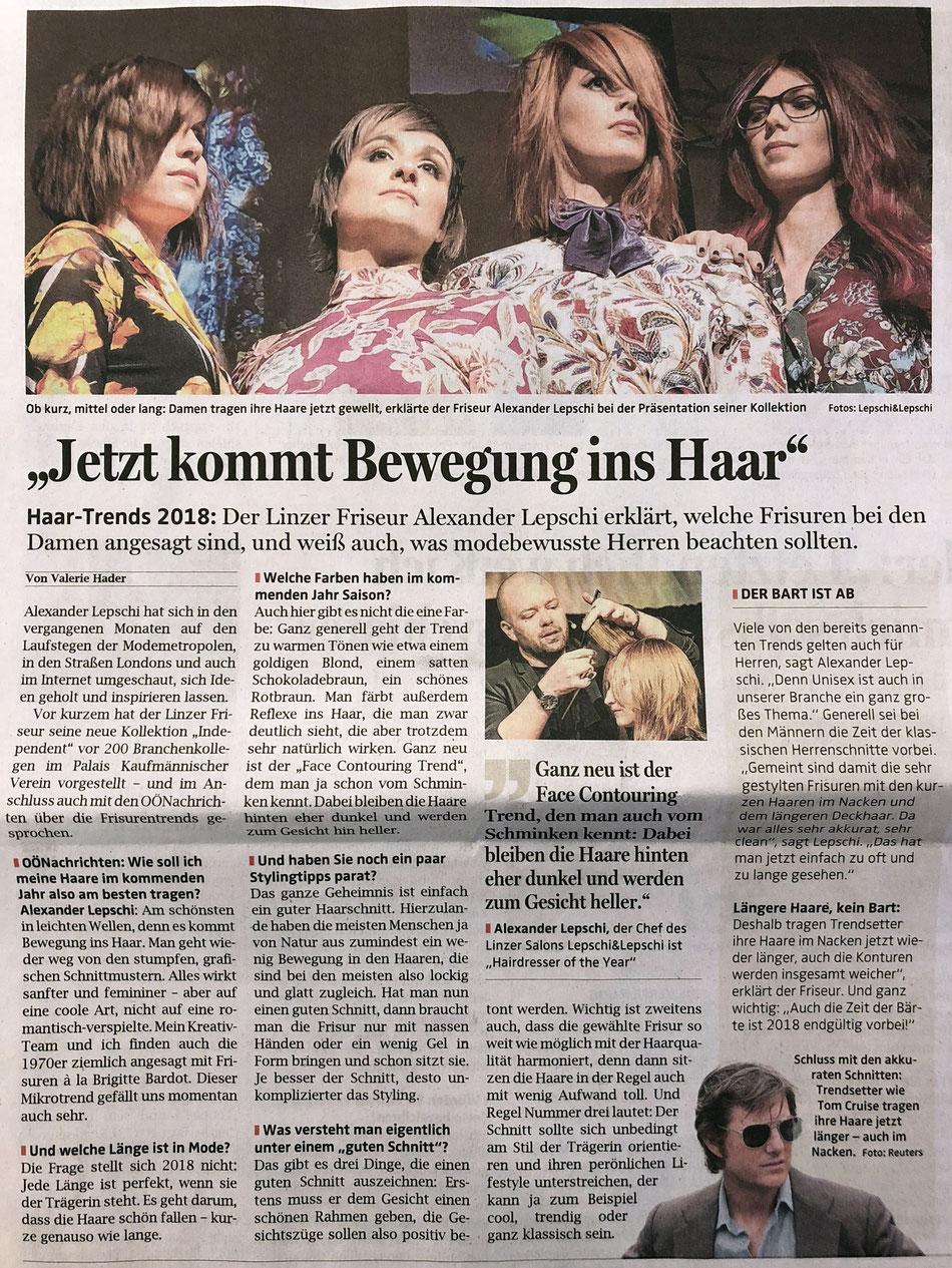 Bericht der OÖ-Nachrichten (November 2017)