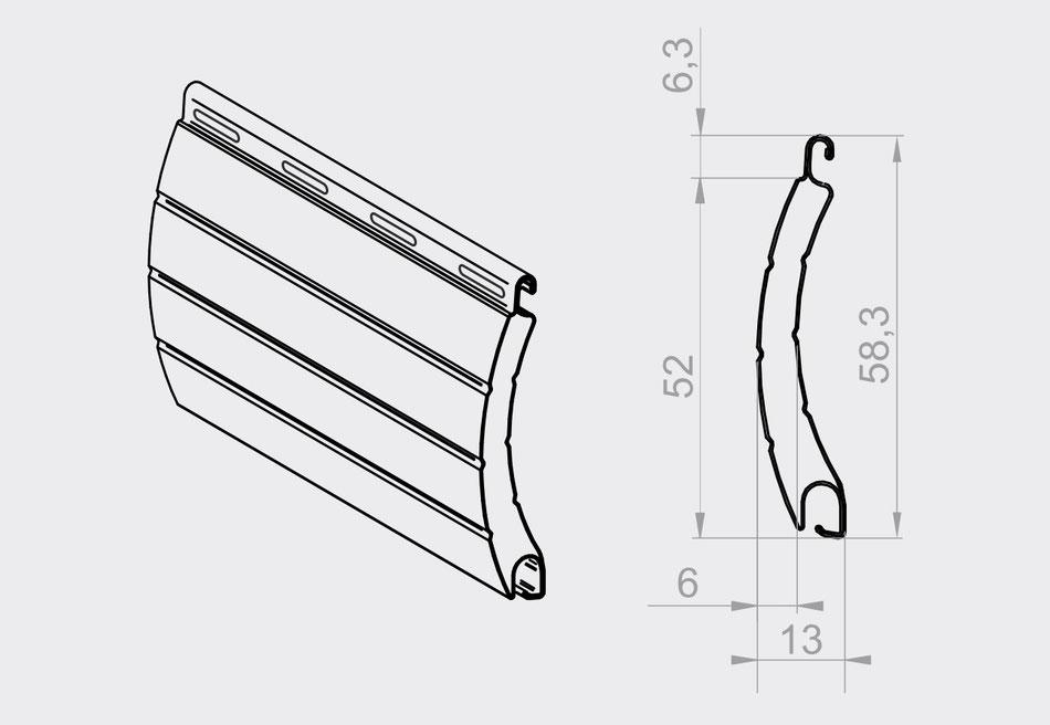 Rolladen Lamellen Maße : rolladenpanzer rollladen alu 52 mm rolladen roll den lamelle ebay ~ A.2002-acura-tl-radio.info Haus und Dekorationen
