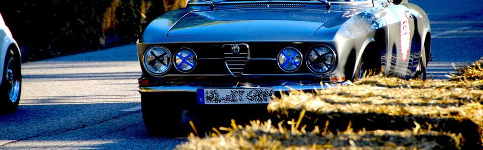 Alfa Romeo Bertone beim Oldtimer-Rennen im Stadtpark