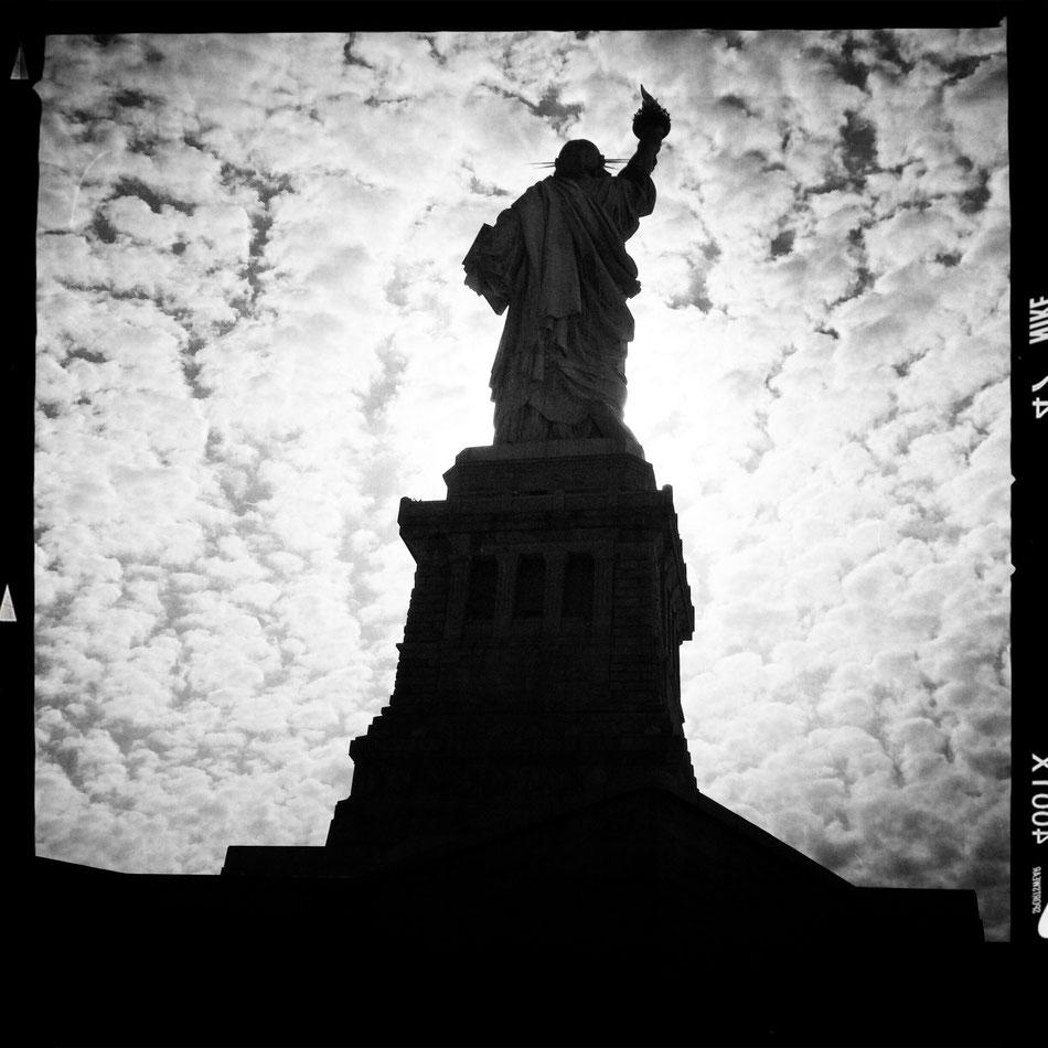 Die dunkle Seite der Macht :-) Freiheitsstatue in New York.