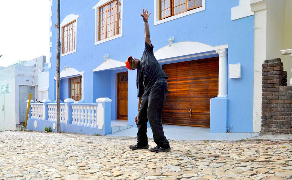 Malaienviertel Bo Kaap in Kapstadt. Bo Kaap ist das älteste Stadtviertel Kapstadt. Das Kap-Malaien Viertel gehört zu den historisch und kulturell interessantesten Teilen der Stadt.