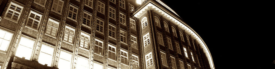 Fassade vom Chilehaus in Hamburg