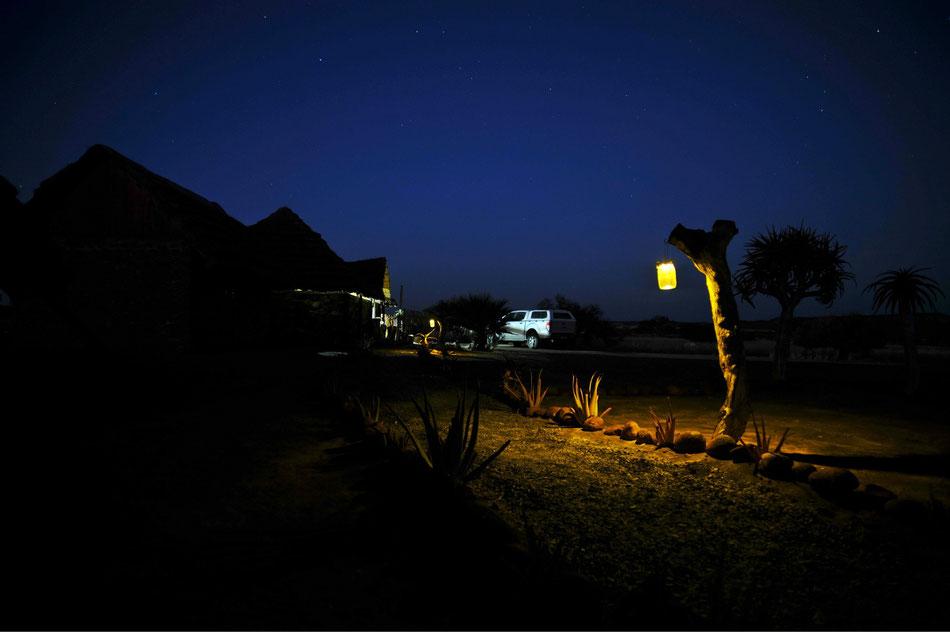 Das Mesosaurus Fossil Camp ist eine Gästefarm mit Campingplatz im Süden Namibias. Auf der Farm findet sich ein unberührter Köcherbaumwald. Die Eigentümer Giel und Hendrik Steenkamp bieten die berühmte Mesosaurus Fossilientour an.
