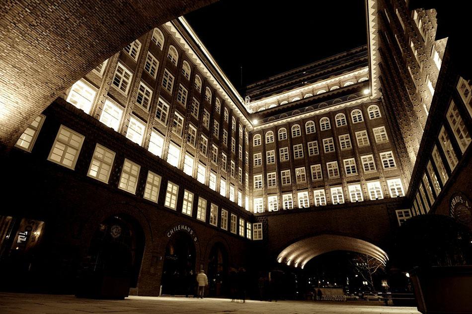 Das Chilehaus in der Hamburger Innenstadt