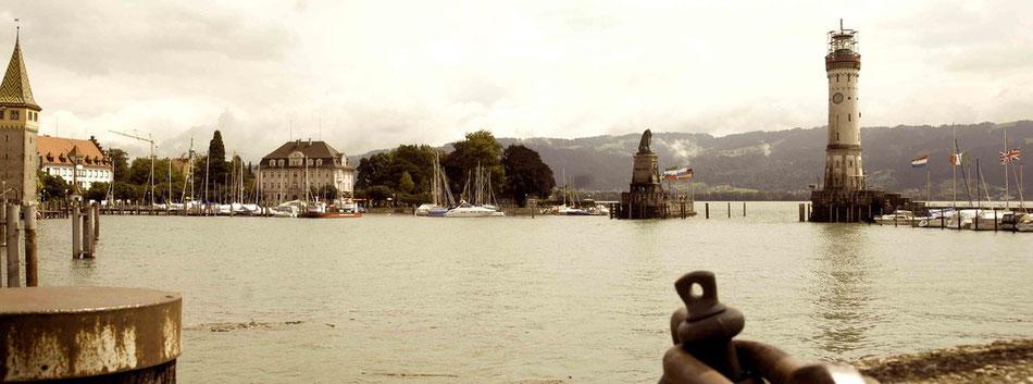 Konstanz Bodensee Blick auf den Hafen
