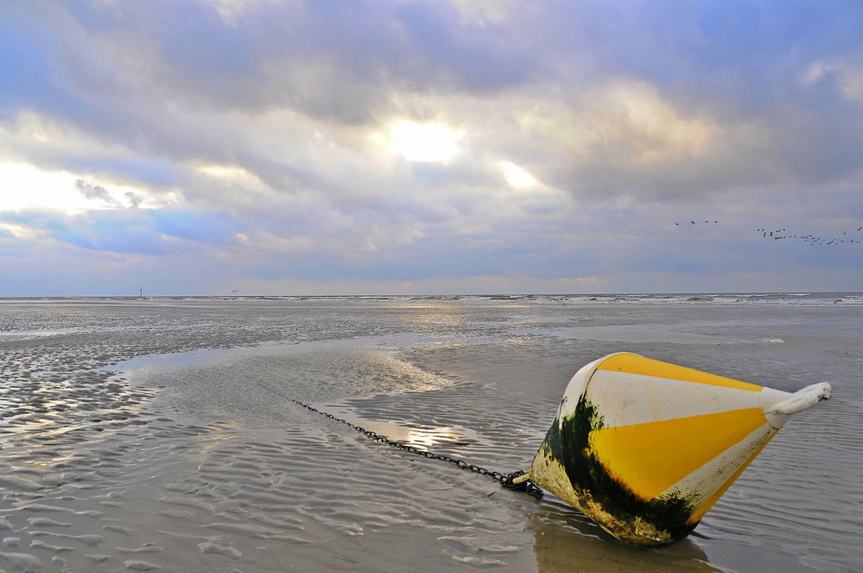 Boje am Strand in St Peter-Ording