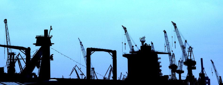 Werft Hafen St. Pauli Landungsbruecken Hamburg Schiff
