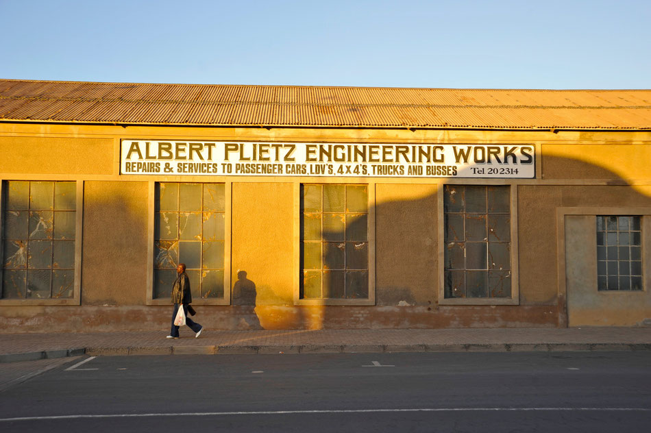 Albert Plietz Engineering Works in Lüderitz, Namibia