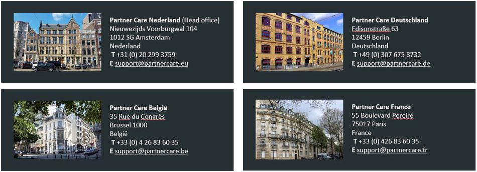 Abbiamo vari uffici in tutta l'Europa.
