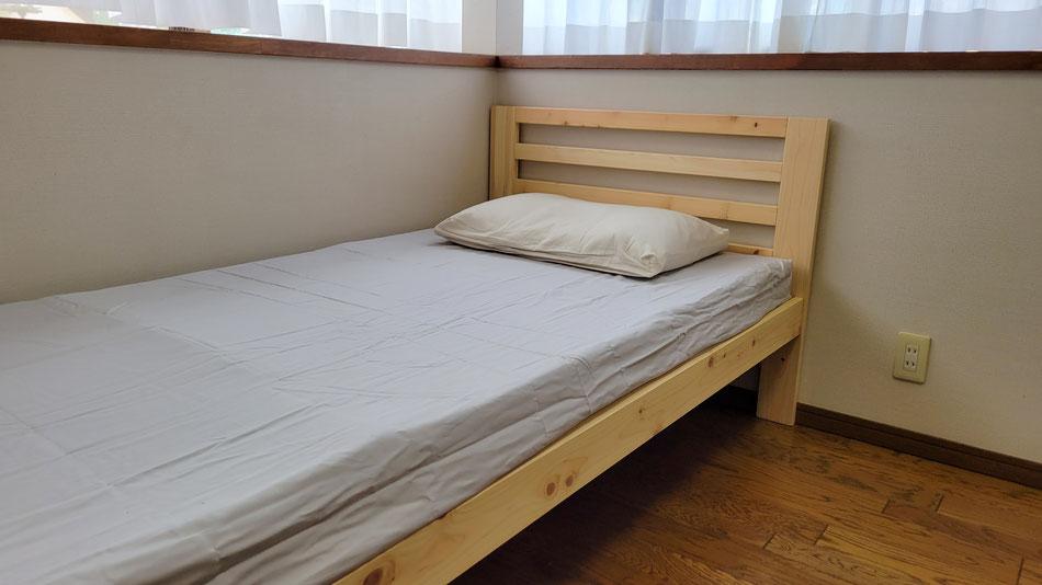 ベッドは一番高めに設定