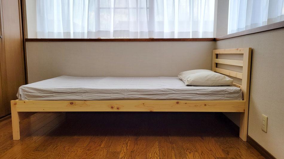 プレミアムオーダーマットとひのきベッド