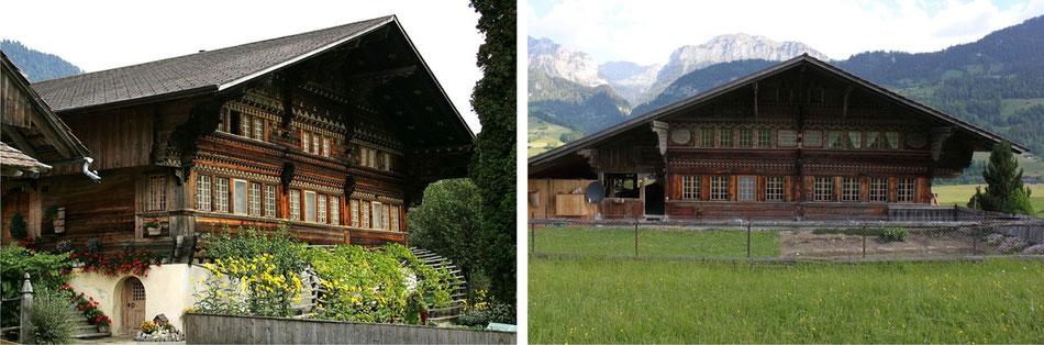"""Abbildung 11: """"Knuttihaus"""", Moos, Därstetten; Abbildung 12: """"Argelhaus"""", zur Obern, Weissenburg"""