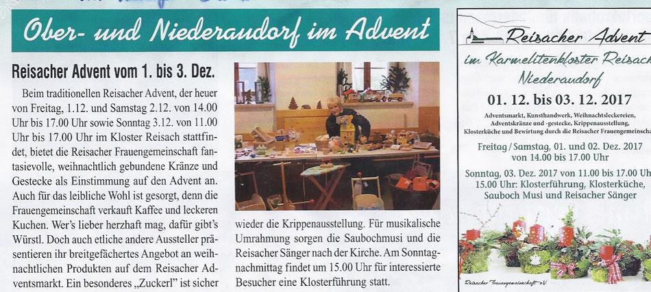 Wendelstein Anzeiger Dezember 2017