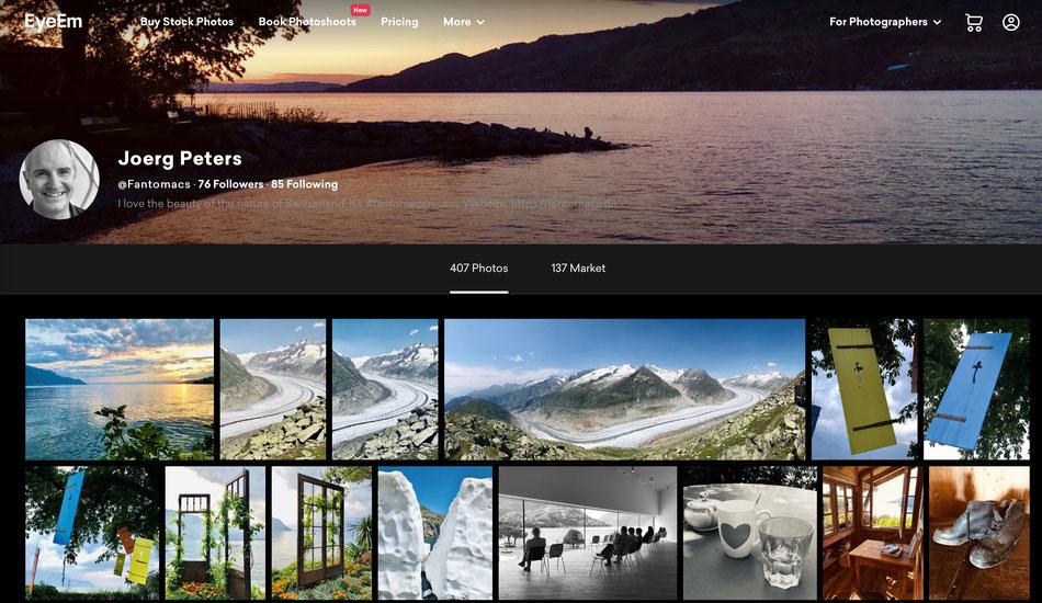 EyeEM homepage
