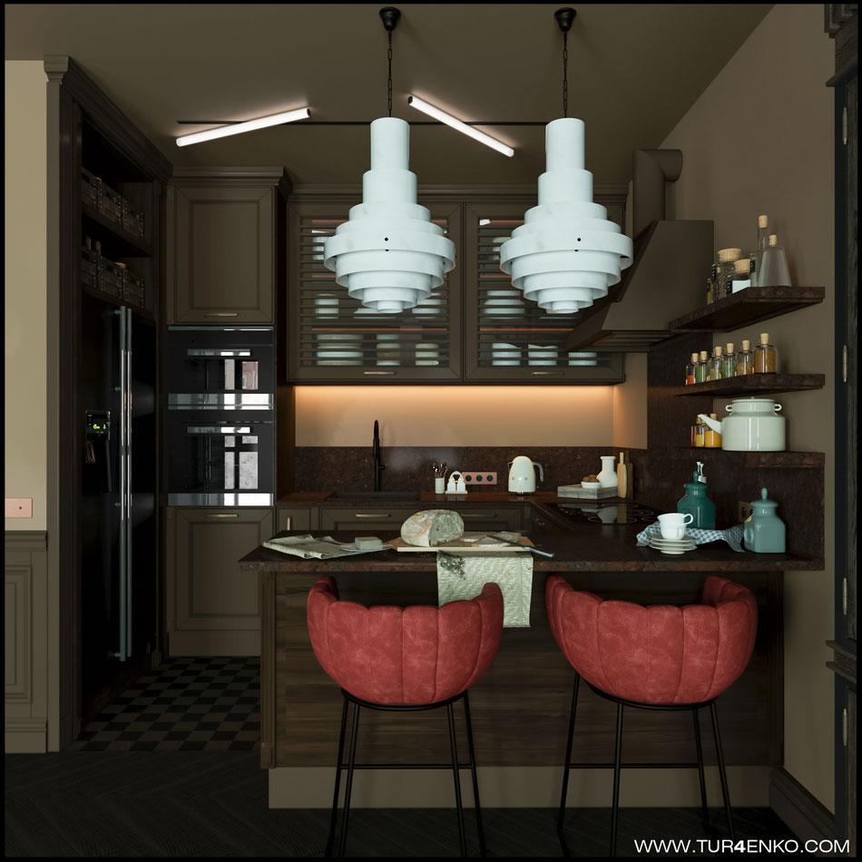 дизайн кухни в ЖК Резиденции композиторов 89163172980 Турченко Наталия